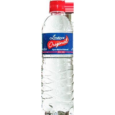 Água mineral natural com gás 500/510ml Lindoya Original pet UN