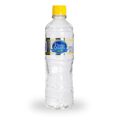 Água mineral natural com gás 500/510ml Passa Quatro pet UN