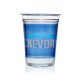Água mineral natural 200ml Névoa copo UN