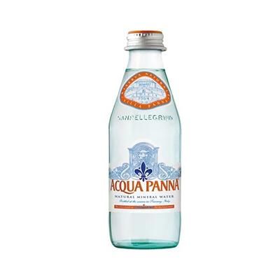 Água mineral natural importada 250ml Acqua Panna garrafa UN