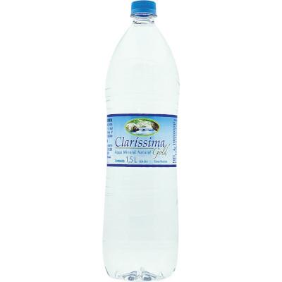 Água mineral natural 1,5Litros Claríssima pet UN