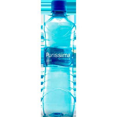 Água Mineral Natural sem Gás 500ml H2O Puríssima pet UN