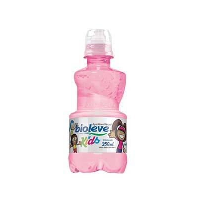 Água mineral natural 250ml Bioleve/Kids pet rosa UN
