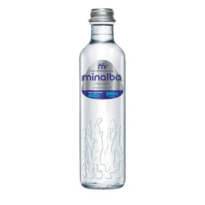 Água mineral natural premium 300ml Minalba garrafa UN