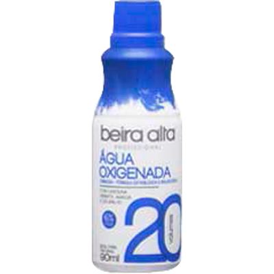 Água Oxigenada cremosa 20 volumes 90ml Beira Alta  UN