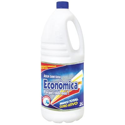 Água sanitária Branco Total 2 Litros Econômica frasco FR