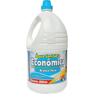 Água sanitária Branco Total 5Litros Econômica galão GL