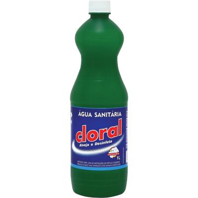 Água sanitária   1Litro  Cloral frasco FR