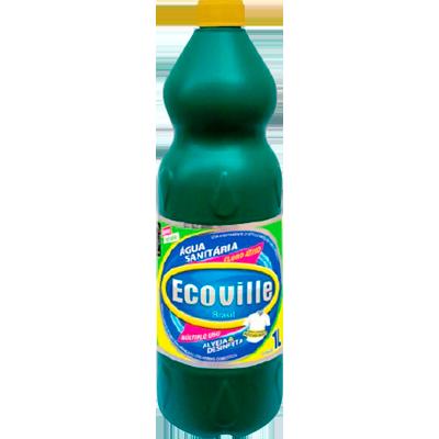 Água sanitária  1Litro Ecoville frasco FR