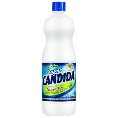 Água sanitária  1Litro Super Candida frasco FR