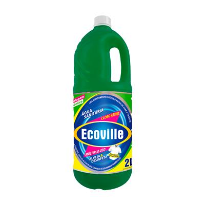 Água sanitária  2Litros Ecoville frasco FR