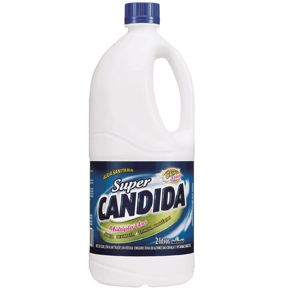 Água sanitária  2Litros Super Candida frasco FR