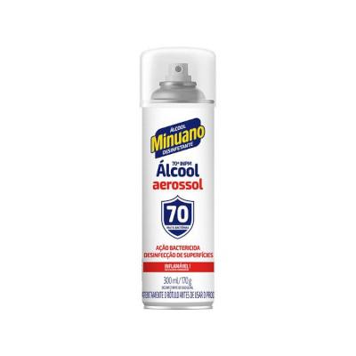 Álcool aerosol antisséptico 70° 300ml Minuano  UN