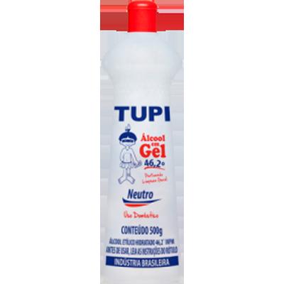 Álcool em Gel 46,2° Neutro 500g Tupi frasco FR