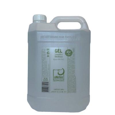 Álcool em Gel 70° Lavanda e Melaleuca 5kg Unevie galão GL