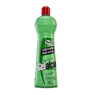Álcool em Gel Antisséptico eucalipto 70° 500g Start frasco FR