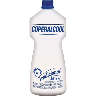 Álcool líquido 46° 1Litro Coperalcool frasco FR