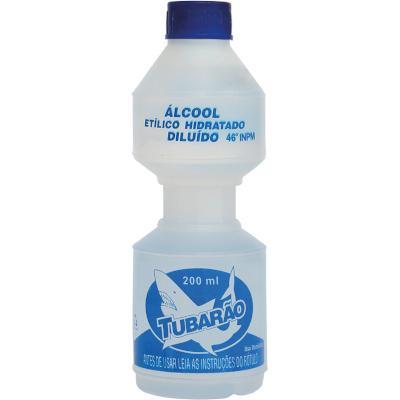 Álcool Líquido 46°  200ml Tubarão  frasco FR