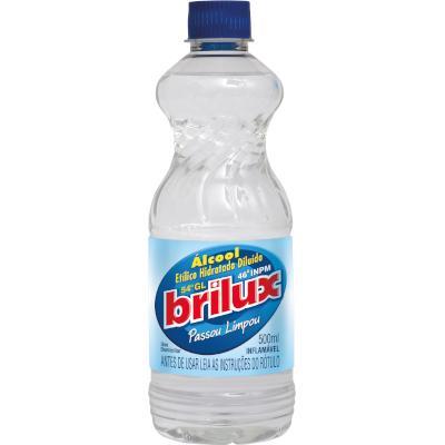 Álcool Líquido 46° 500ml  Brilux frasco FR
