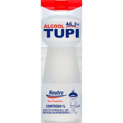 Álcool líquido 46,2° 1Litro Tupi frasco FR