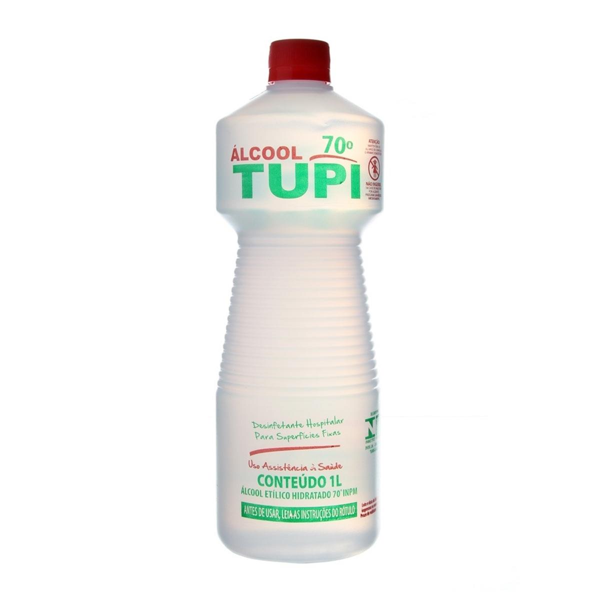 Álcool líquido 70° 1Litro Tupi frasco FR