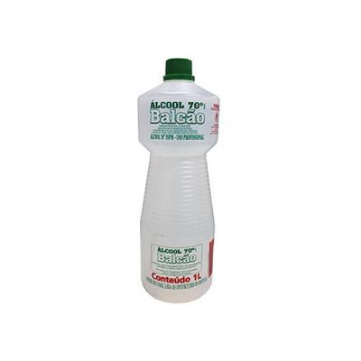 Álcool líquido antisséptico 70° 1Litro Balcão frasco FR