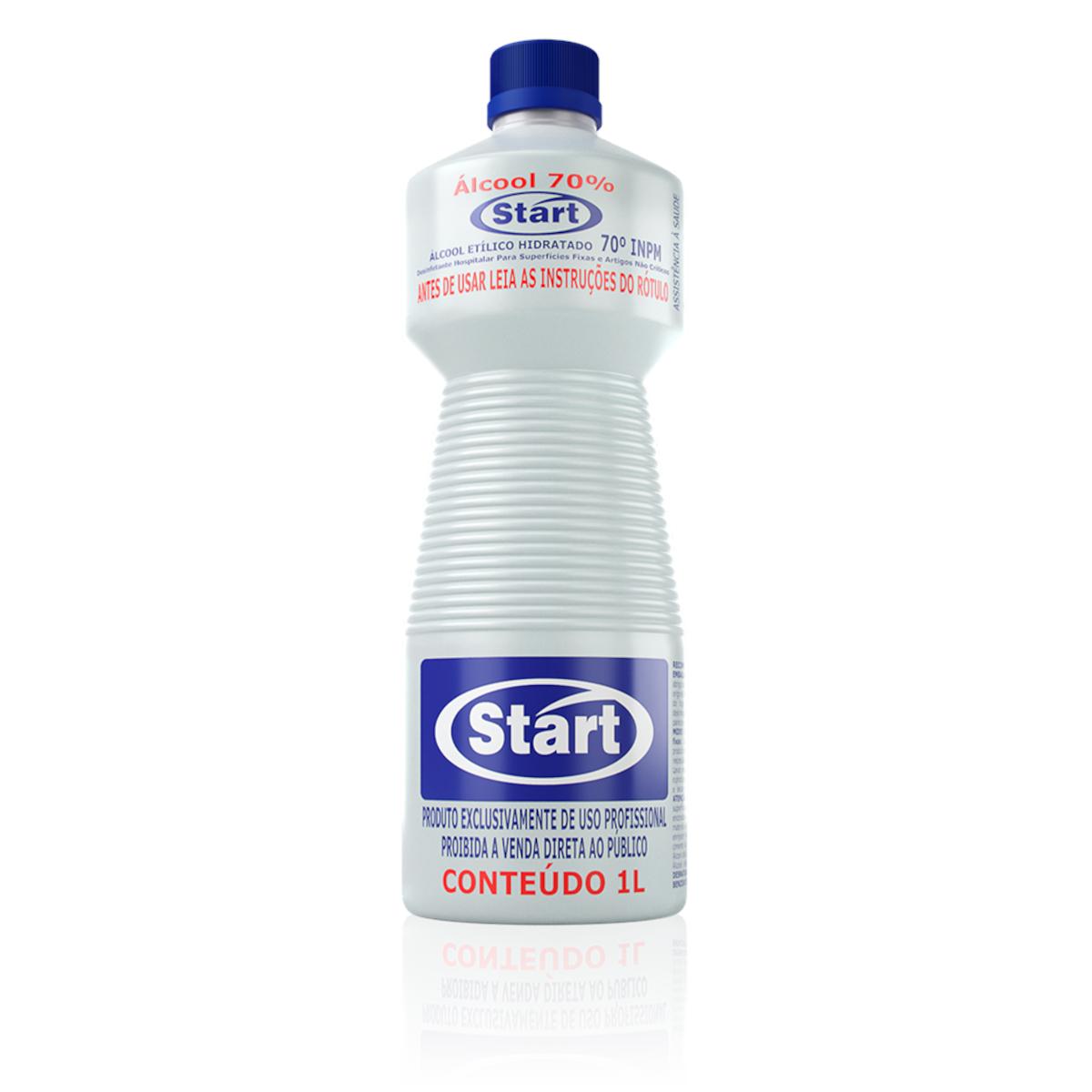 Álcool Líquido Antisséptico 70° 1Litro Start frasco FR