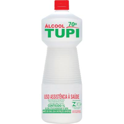 Álcool Líquido Antisséptico 70° 1Litro Tupi frasco FR
