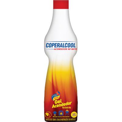 Álcool para acendimento em Gel 80° 480g Coperalcool frasco FR