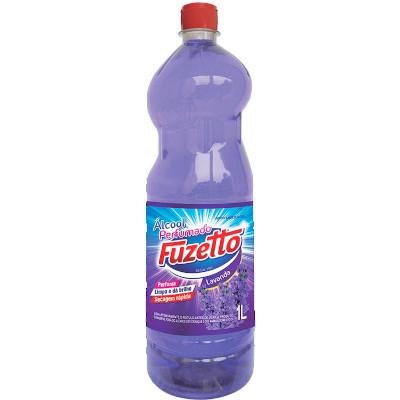 Álcool perfumado lavanda 1Litro Fuzetto frasco FR