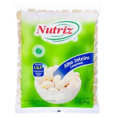 Alho descascado congelado 1,1kg Nutriz pacote PCT