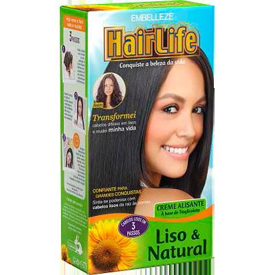 Alisante capilar liso natural 160g Hair Life  UN