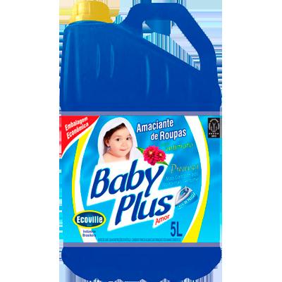 Amaciante de roupas baby plus azul 5Litros Ecoville galao GL