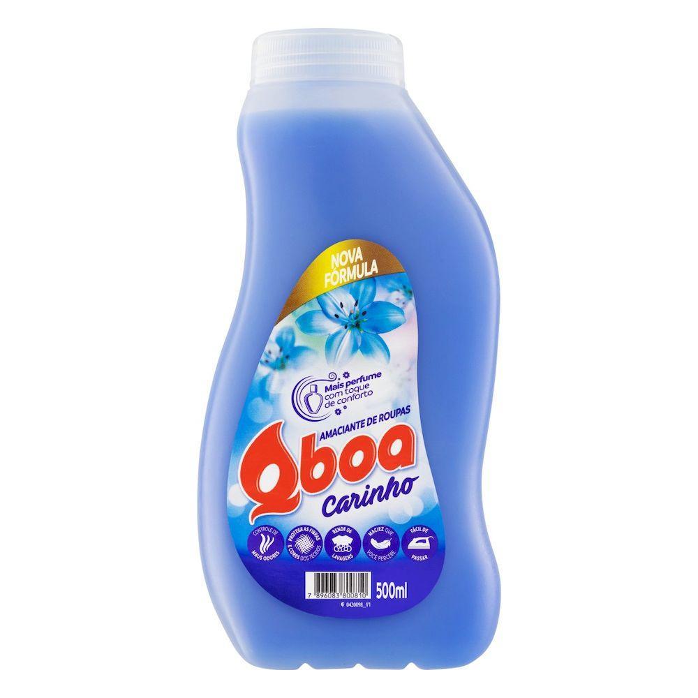 Amaciante de roupas carinho 500ml QBoa frasco FR
