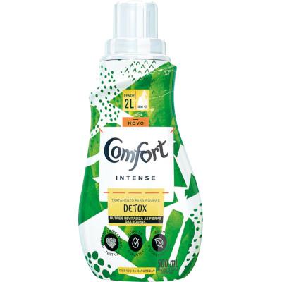 Amaciante de roupas concentrado intense detox 500ml Comfort frasco FR