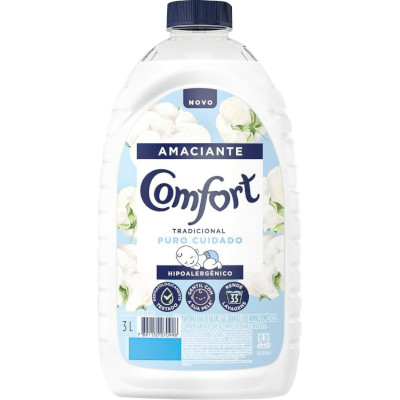 Amaciante de Roupas Concentrado Puro Cuidado 3Litros Comfort frasco FR
