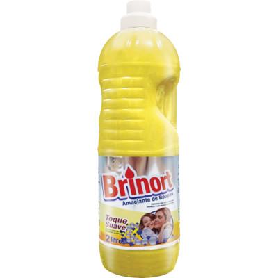 Amaciante de roupas Toque Suave Amarelo 2Litros Brinort frasco FR