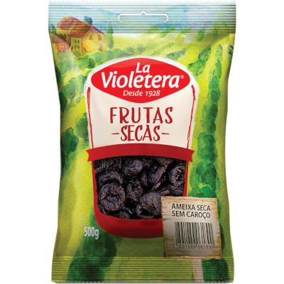 Ameixa seca e sem caroço 500g La Violetera pacote PCT