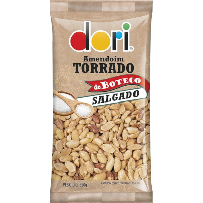 Amendoim Boteco Salgado 320g Dori pacote PCT