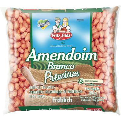 Amendoim Branco Premium 400g Fritz & Frida pacote UN