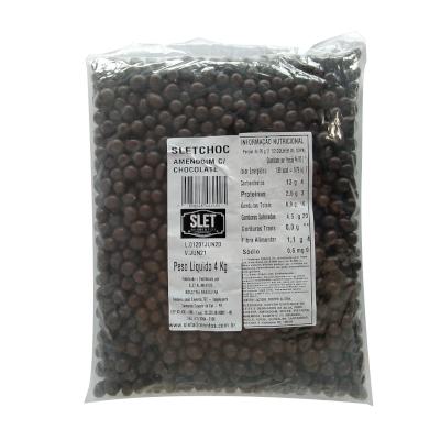 Amendoim Chocolate ao Leite 4kg SLET Alimentos pacote PCT