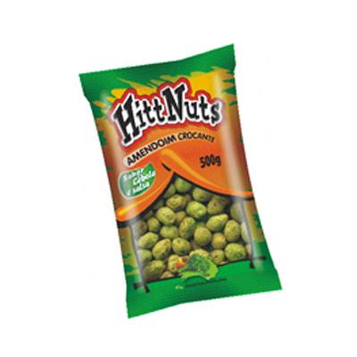Amendoim crocante sabor cebola e salsa 500g HittNuts pacote UN