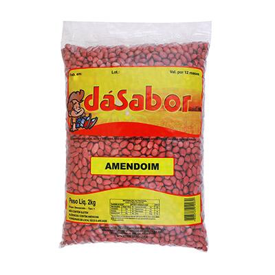 Amendoim crocante 2kg DáSabor pacote PCT