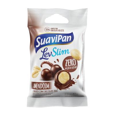 Amendoim Drageado coberto com chocolate ao leite zero 40g Suavipan  UN