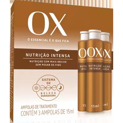 Ampola de Tratamento Nutri Infusion 3 unidades de 15ml OX OILS  UN