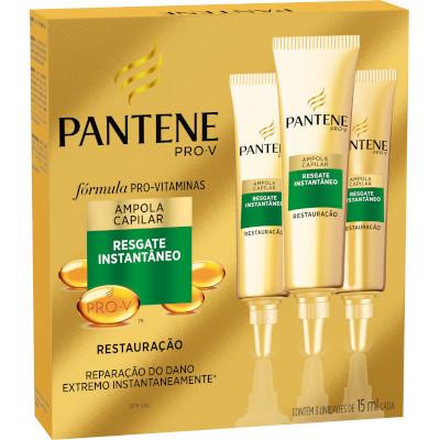 Ampola de Tratamento Restauração 3 unidades de 15ml Pantene  UN