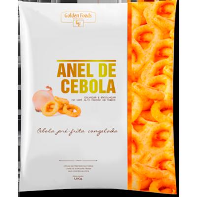 Anel de Cebola empanado por Kg Golden Foods pacote KG