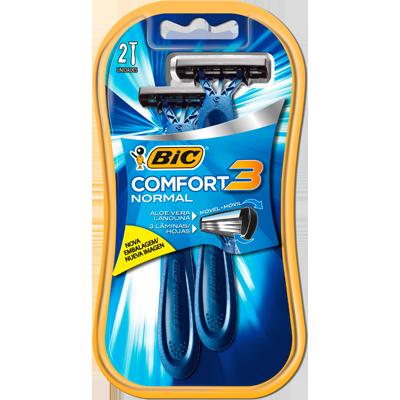Aparelho de Barbear pele sensível 2 unidades Bic Comfort 3  UN