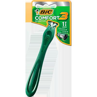 Aparelho de Barbear pele sensível com 3 lâminas unidade Bic Comfort 3  UN
