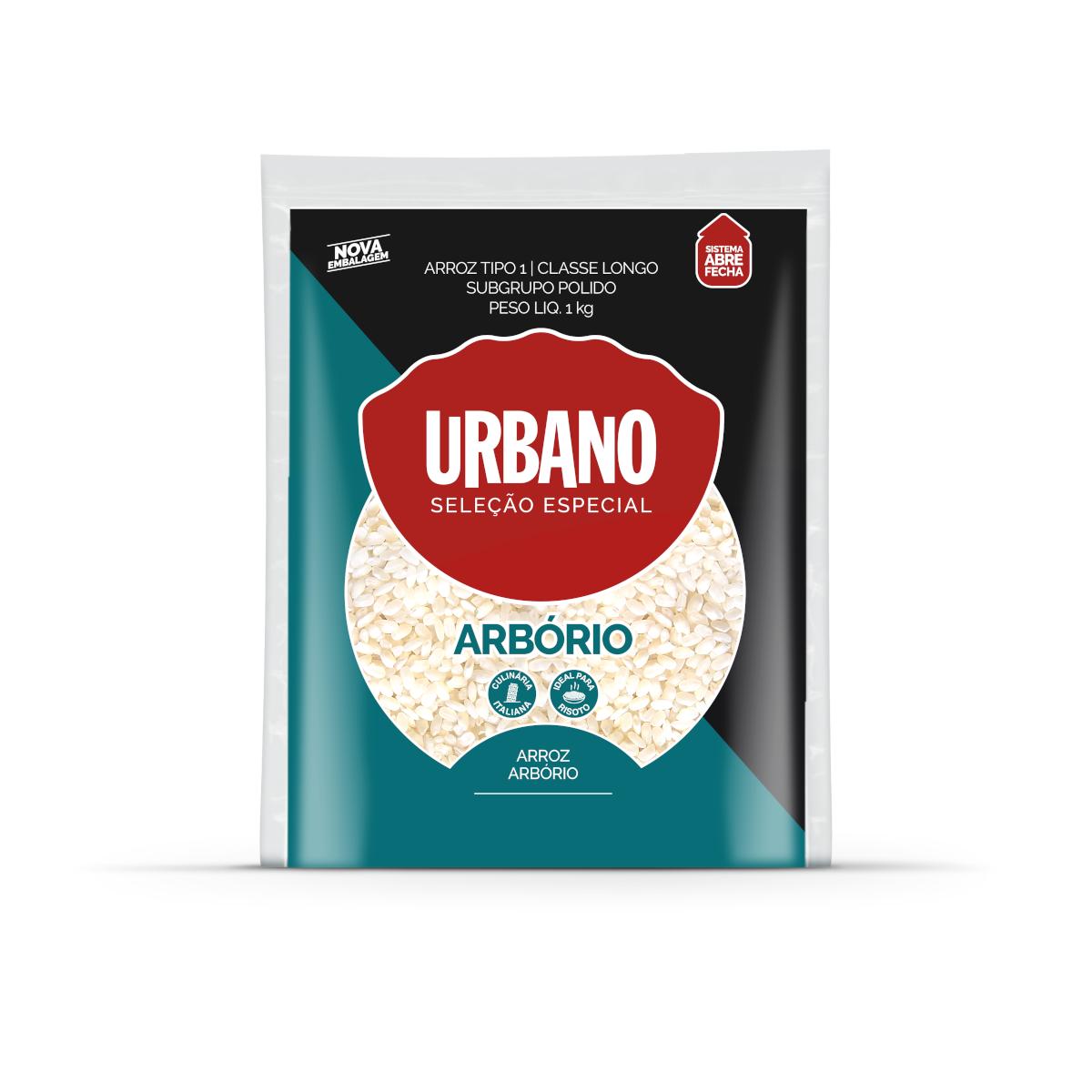 Arroz arbório 1kg Urbano pacote PCT